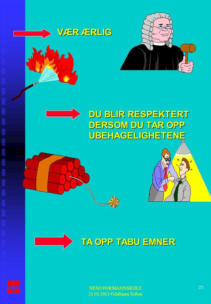 NESO FORMANNSKOLE 21.03.2013 Oddbjørn Toften