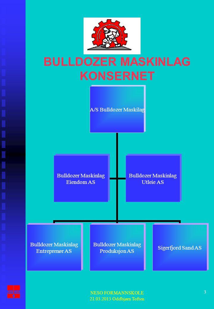 BULLDOZER MASKINLAG KONSERNET