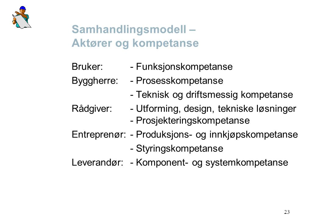 Samhandlingsmodell – Aktører og kompetanse