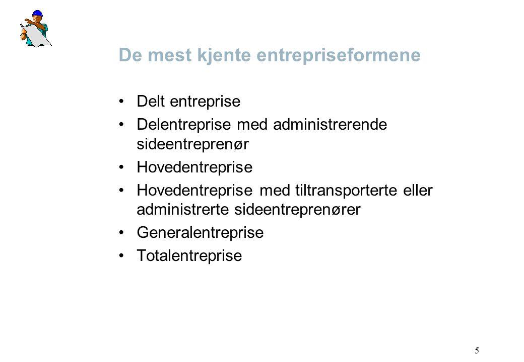 De mest kjente entrepriseformene