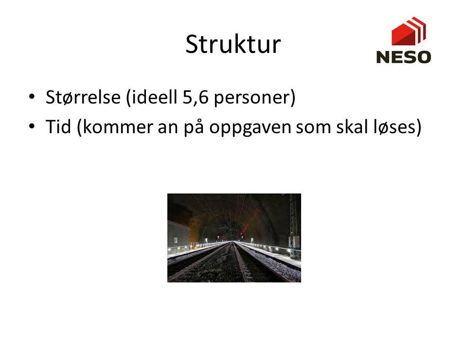 Struktur Størrelse (ideell 5,6 personer)