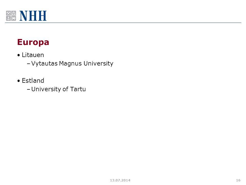 Europa Litauen Estland Vytautas Magnus University University of Tartu