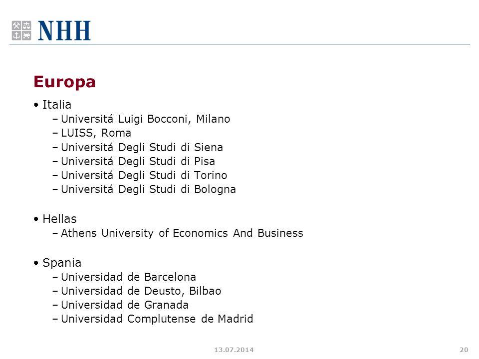 Europa Italia Hellas Spania Universitá Luigi Bocconi, Milano