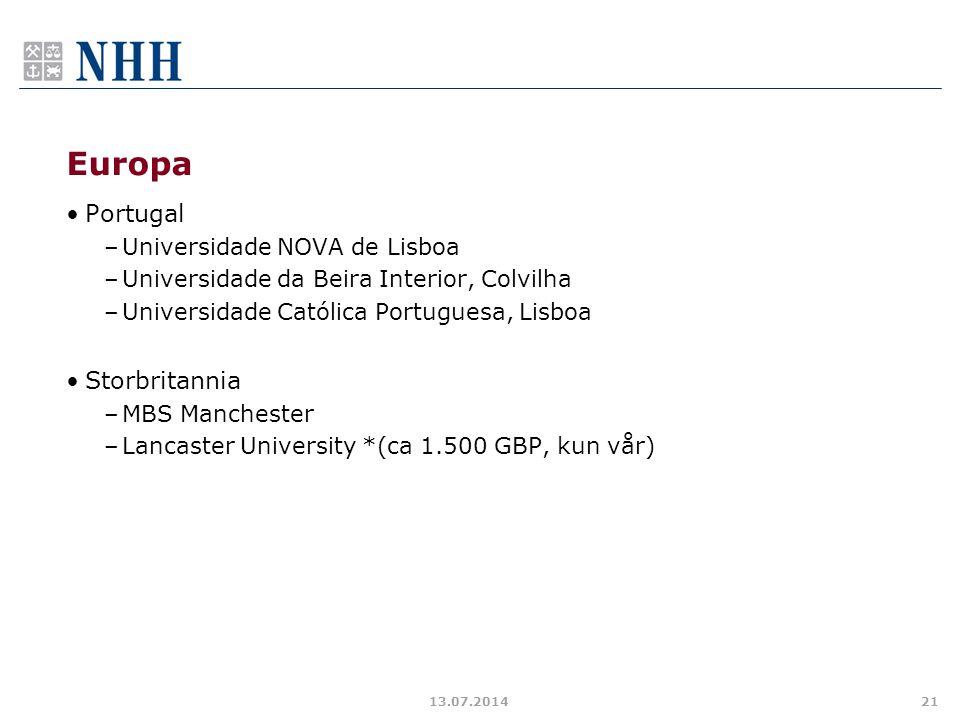 Europa Portugal Storbritannia Universidade NOVA de Lisboa