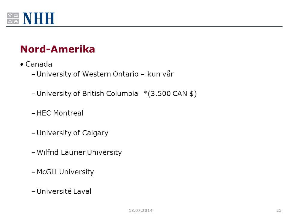 Nord-Amerika Canada University of Western Ontario – kun vår
