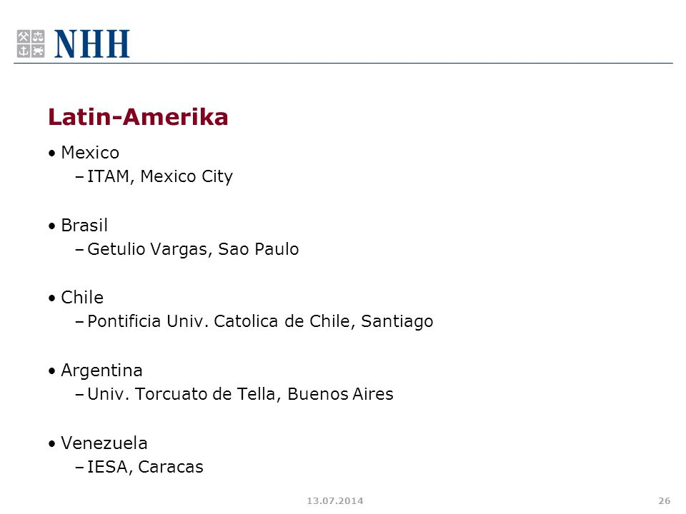 Latin-Amerika Mexico Brasil Chile Argentina Venezuela
