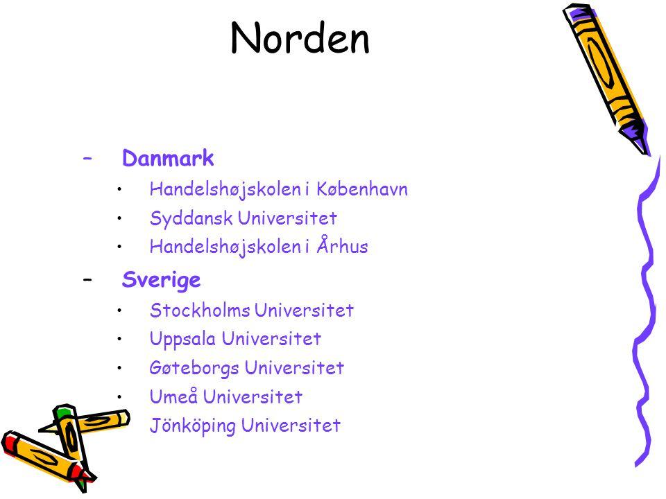 Norden Danmark Sverige Handelshøjskolen i København