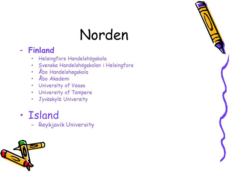 Norden Island Finland Reykjavik University Helsingfors Handelshögskola