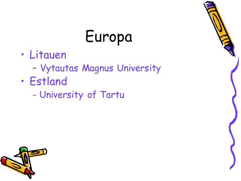 Europa Litauen Estland Vytautas Magnus University