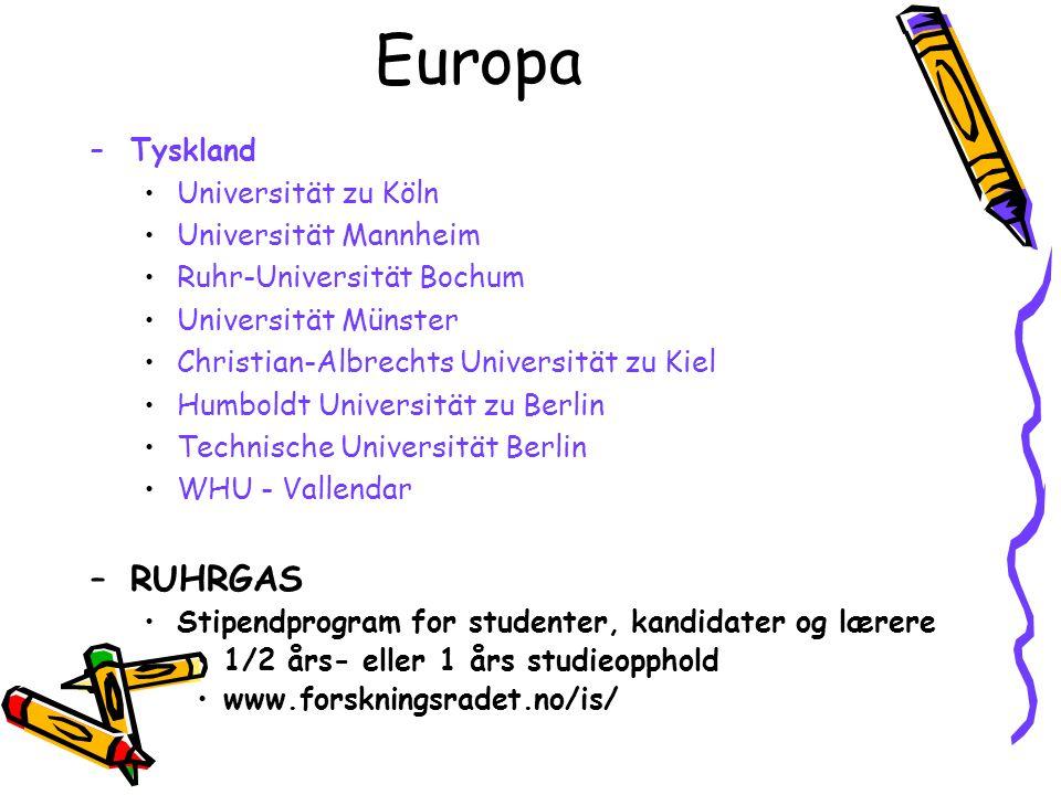 Europa RUHRGAS Tyskland Universität zu Köln Universität Mannheim