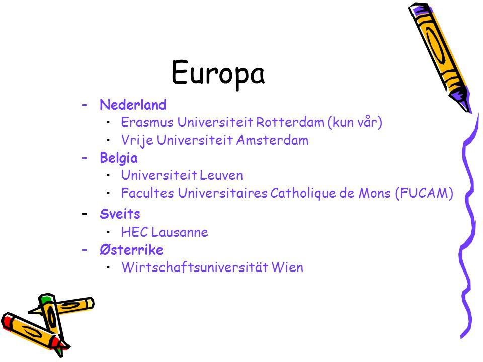 Europa Nederland Erasmus Universiteit Rotterdam (kun vår)