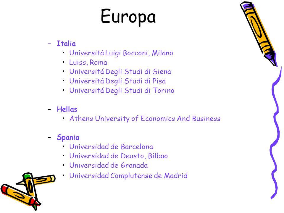 Europa Italia Universitá Luigi Bocconi, Milano Luiss, Roma