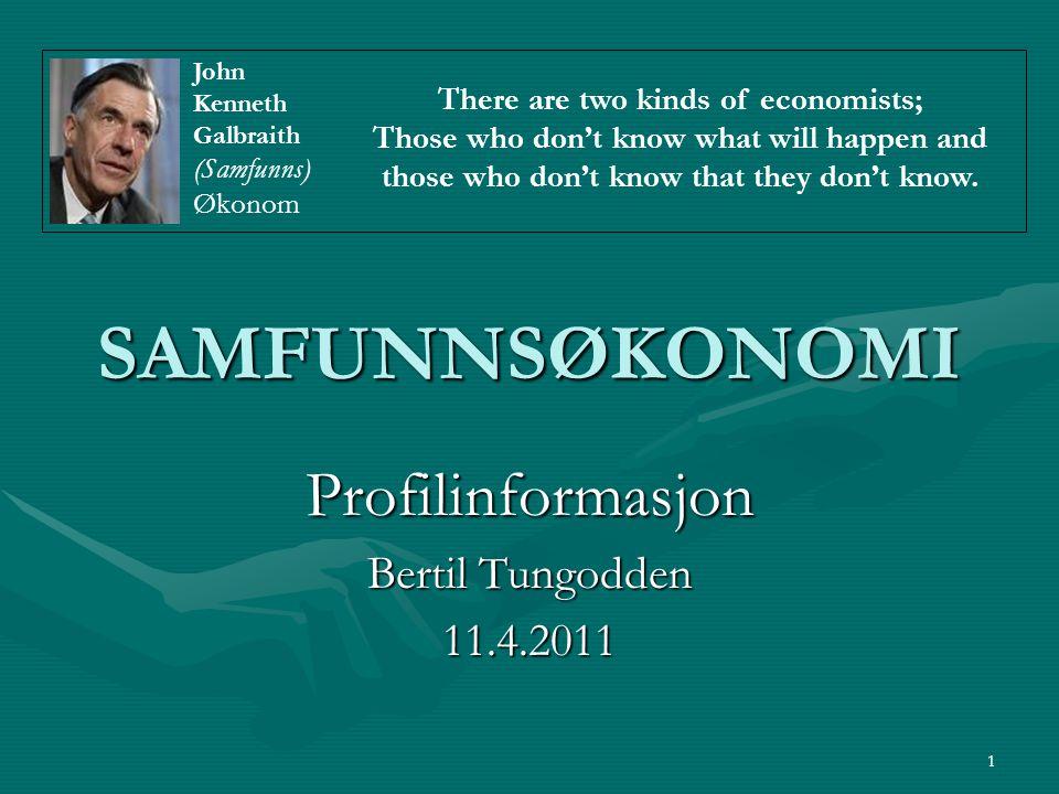 Profilinformasjon Bertil Tungodden 11.4.2011