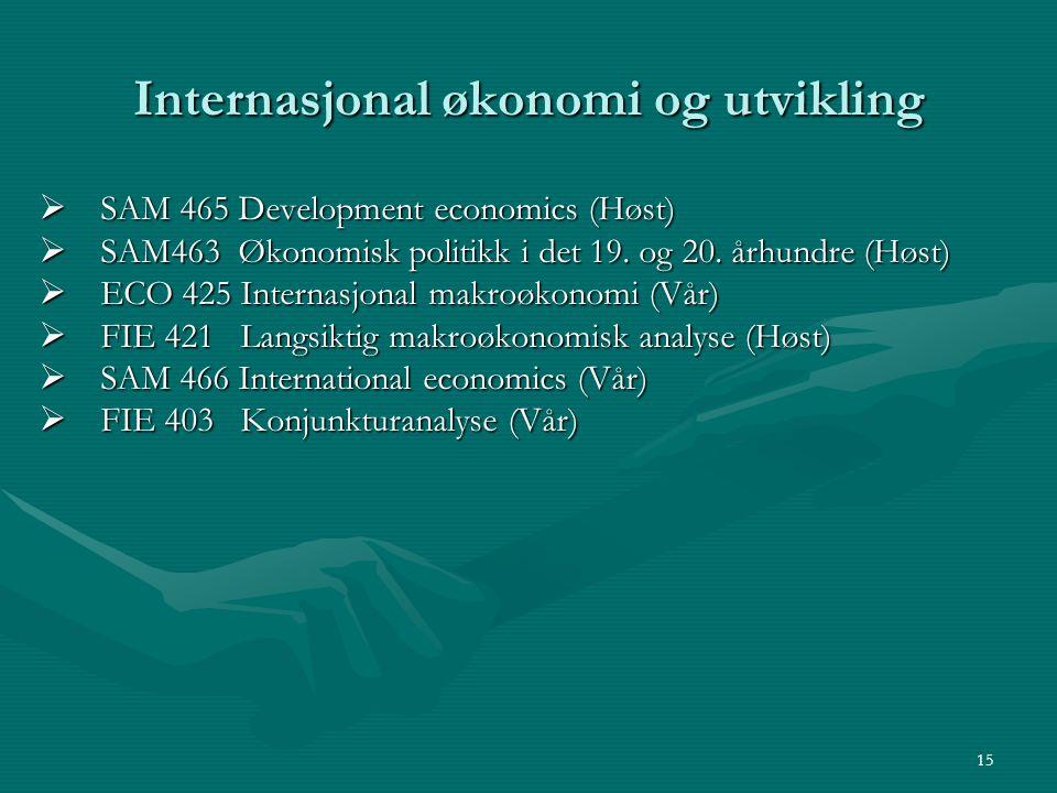 Internasjonal økonomi og utvikling