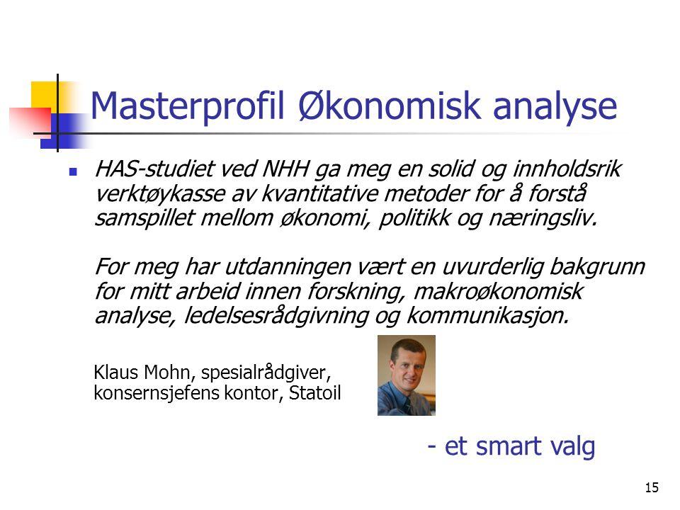 Masterprofil Økonomisk analyse