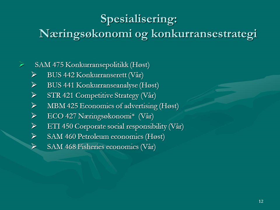 Spesialisering: Næringsøkonomi og konkurransestrategi