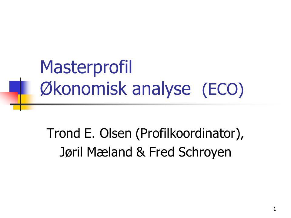 Masterprofil Økonomisk analyse (ECO)