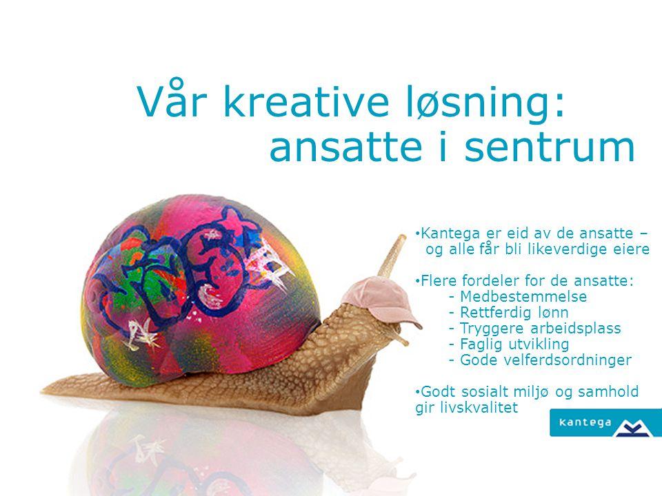 Vår kreative løsning: ansatte i sentrum Kantega er eid av de ansatte –