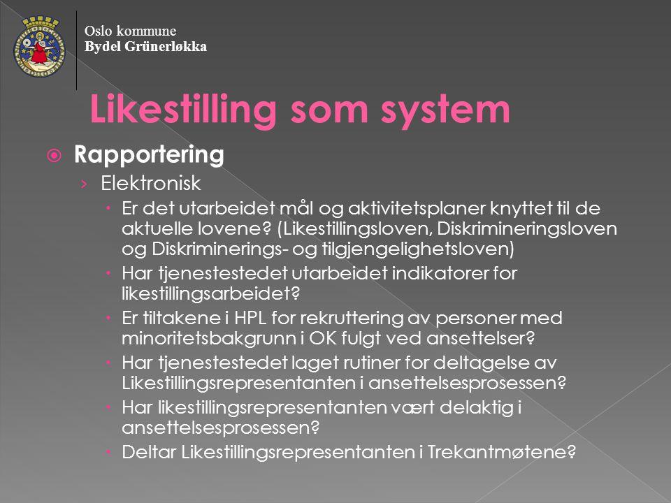 Likestilling som system