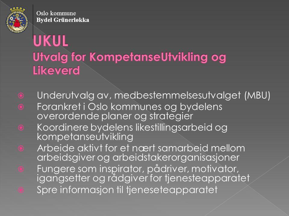 Underutvalg av, medbestemmelsesutvalget (MBU)