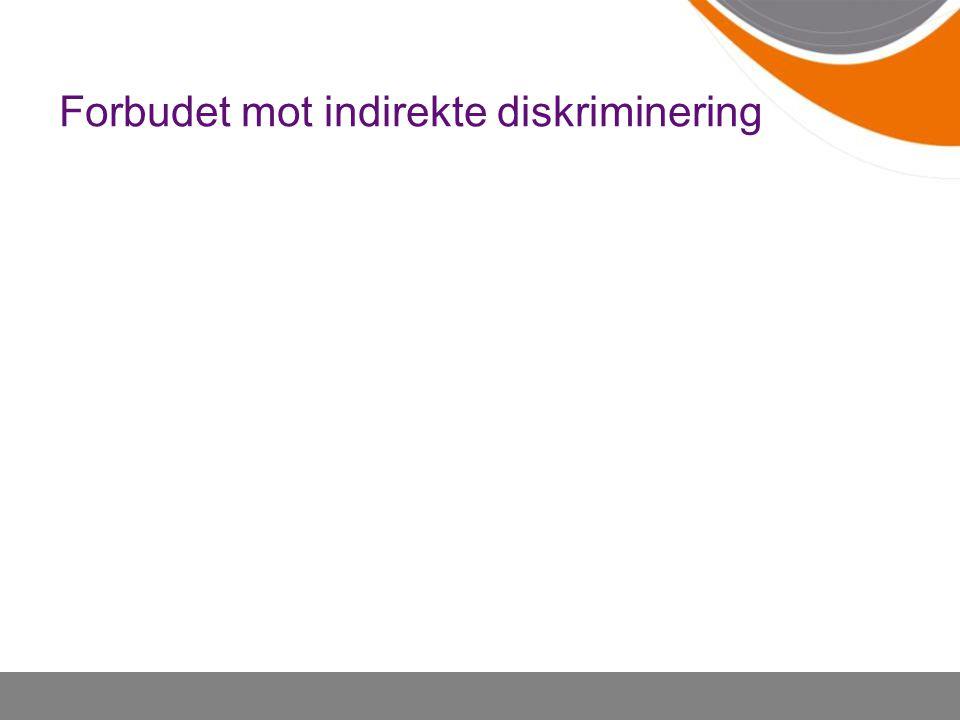 Forbudet mot indirekte diskriminering