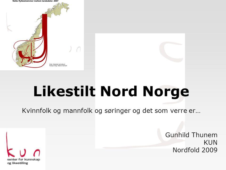 Likestilt Nord Norge Kvinnfolk og mannfolk og søringer og det som verre er…