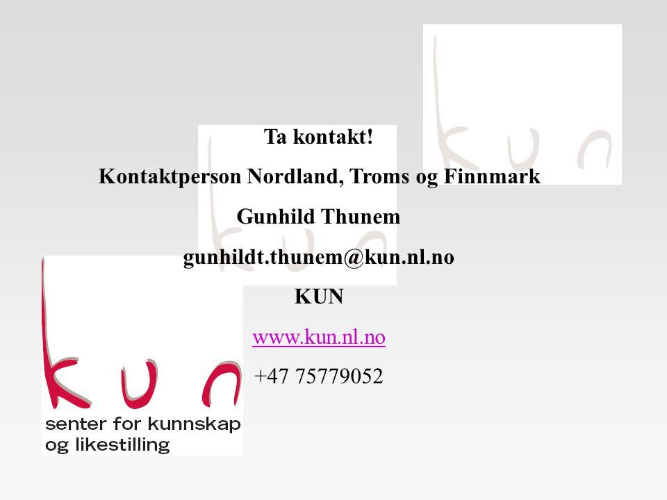Kontaktperson Nordland, Troms og Finnmark