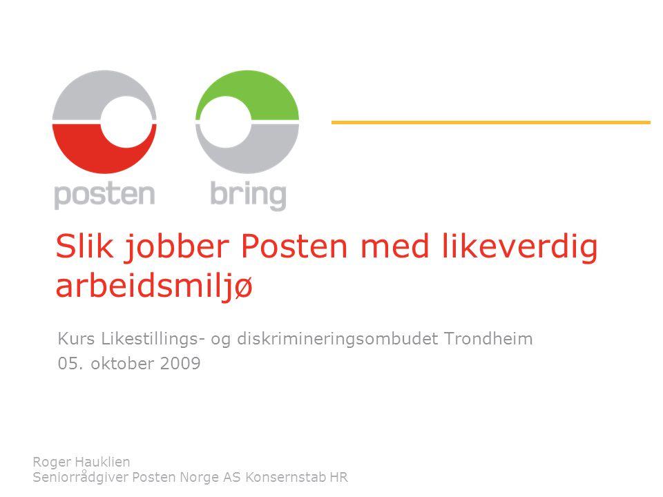 Slik jobber Posten med likeverdig arbeidsmiljø