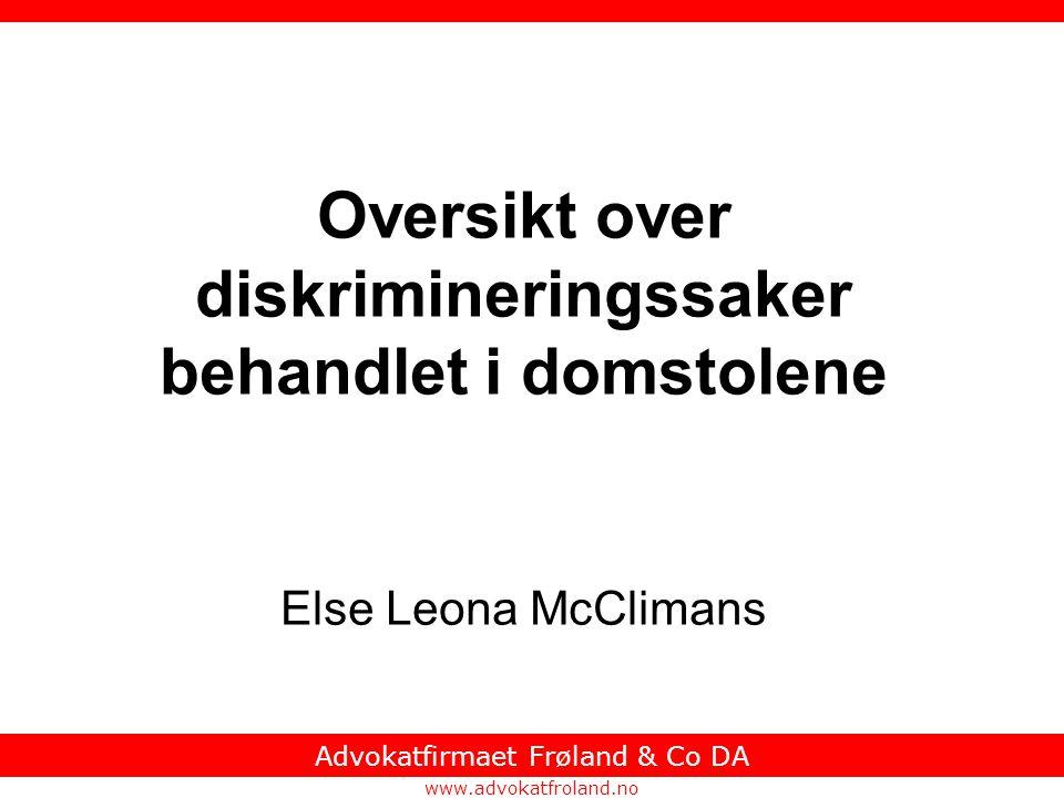 Advokatfirmaet Frøland & Co DA