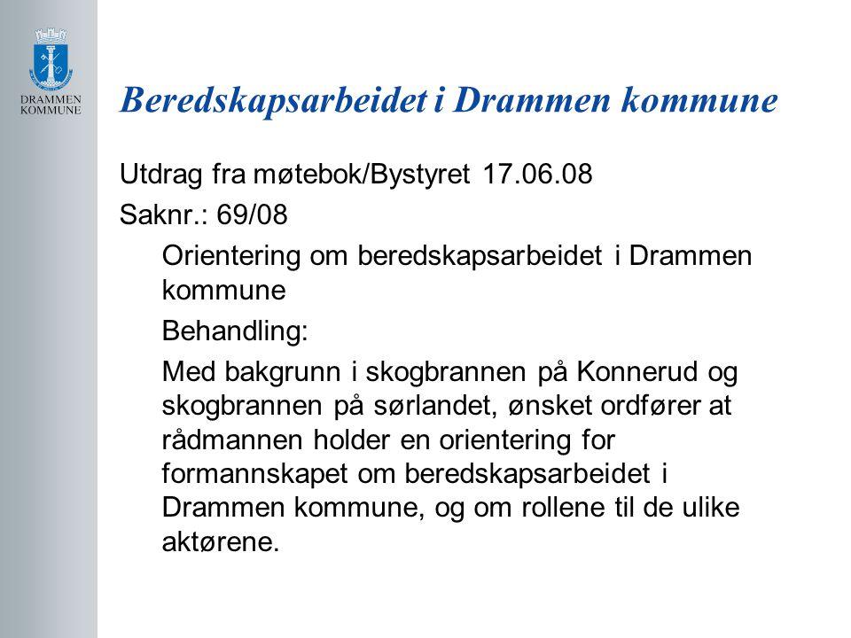 Beredskapsarbeidet i Drammen kommune