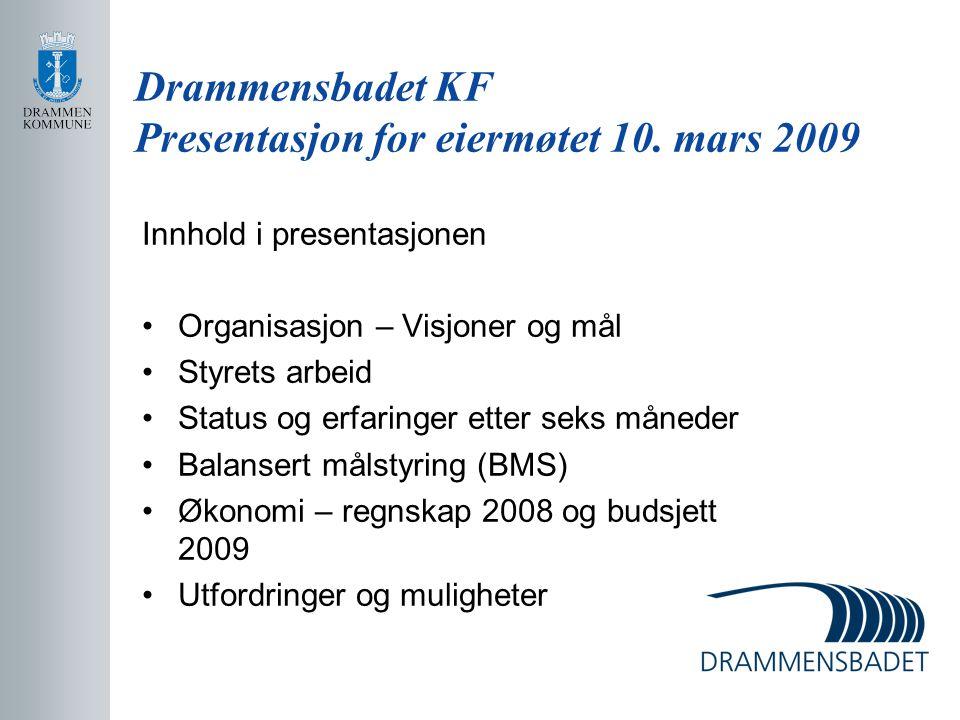 Drammensbadet KF Presentasjon for eiermøtet 10. mars 2009