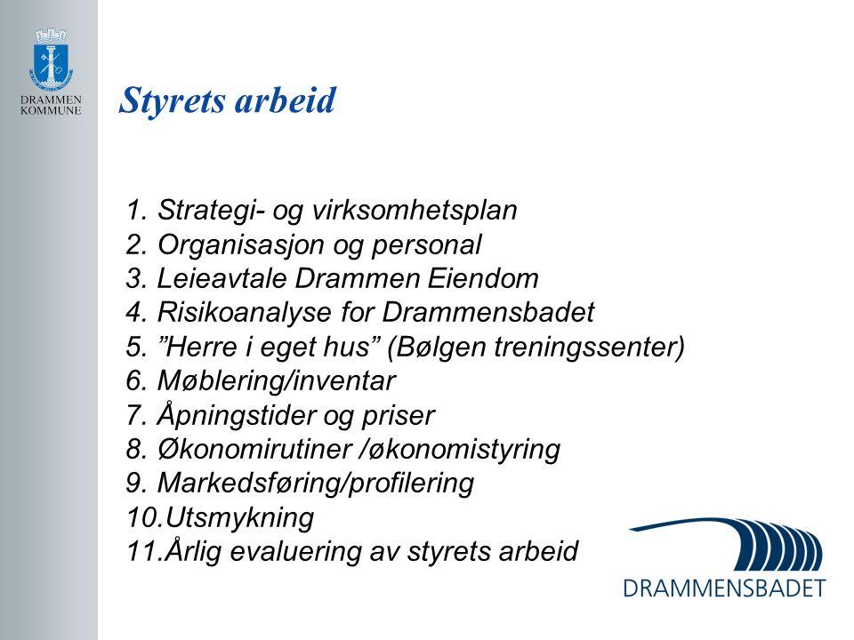 Styrets arbeid Strategi- og virksomhetsplan Organisasjon og personal