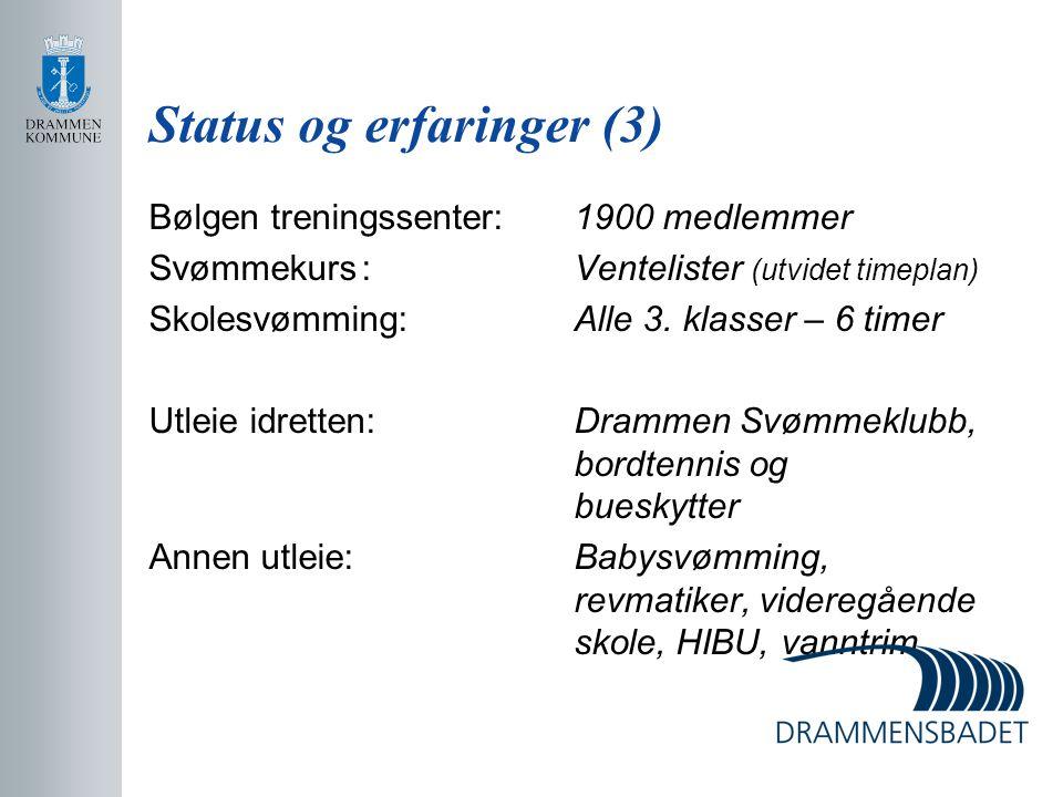 Status og erfaringer (3)