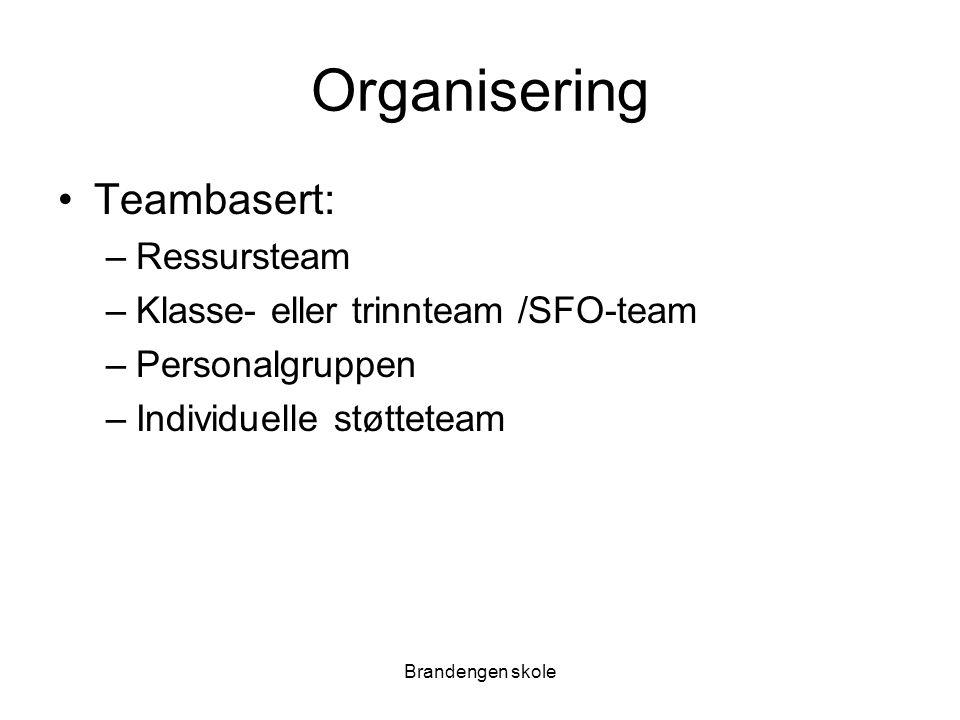 Organisering Teambasert: Ressursteam Klasse- eller trinnteam /SFO-team