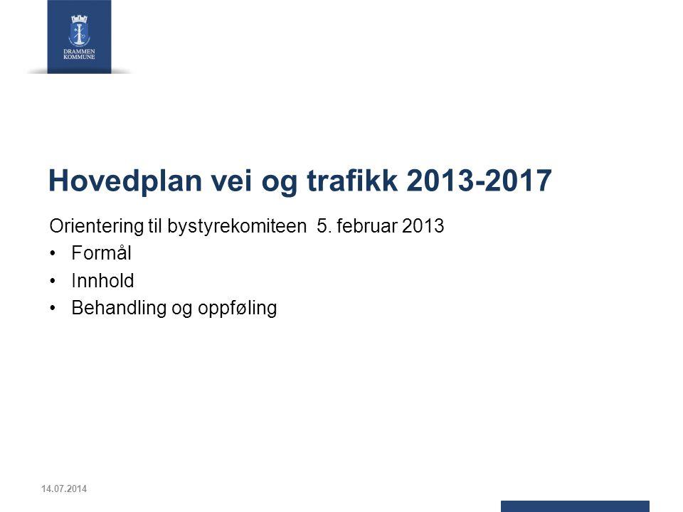 Hovedplan vei og trafikk 2013-2017