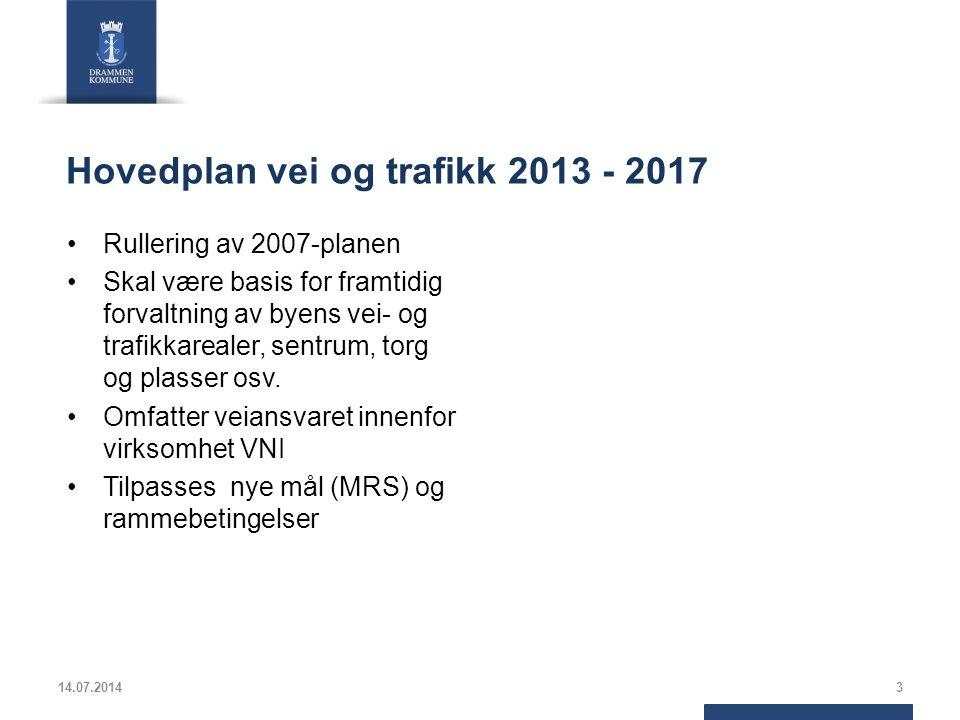 Hovedplan vei og trafikk 2013 - 2017