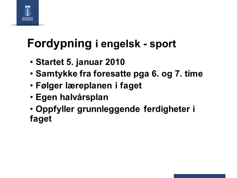 Fordypning i engelsk - sport