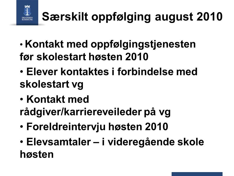 Særskilt oppfølging august 2010