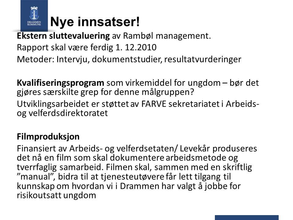 Nye innsatser! Ekstern sluttevaluering av Rambøl management.