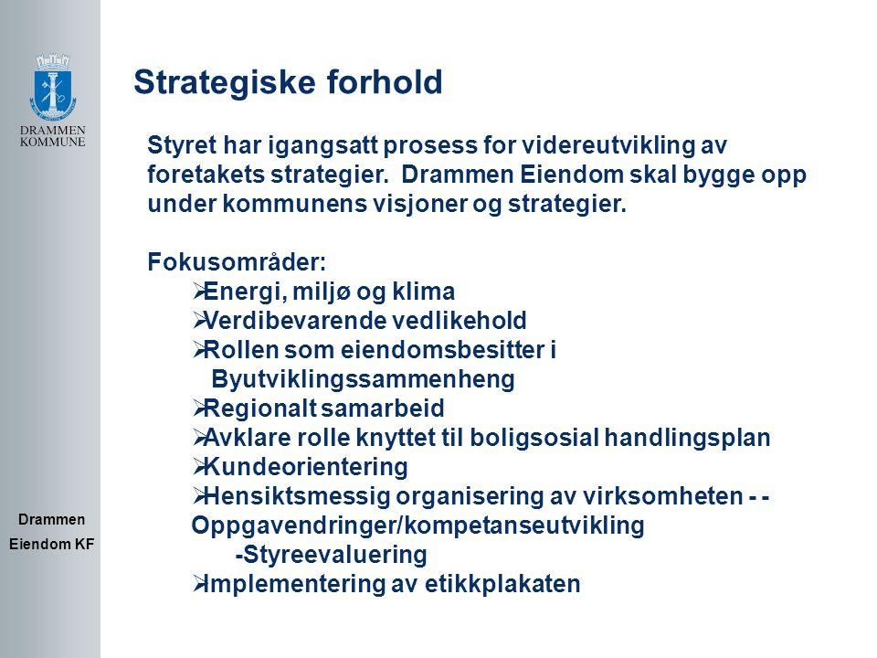 Strategiske forhold Styret har igangsatt prosess for videreutvikling av.