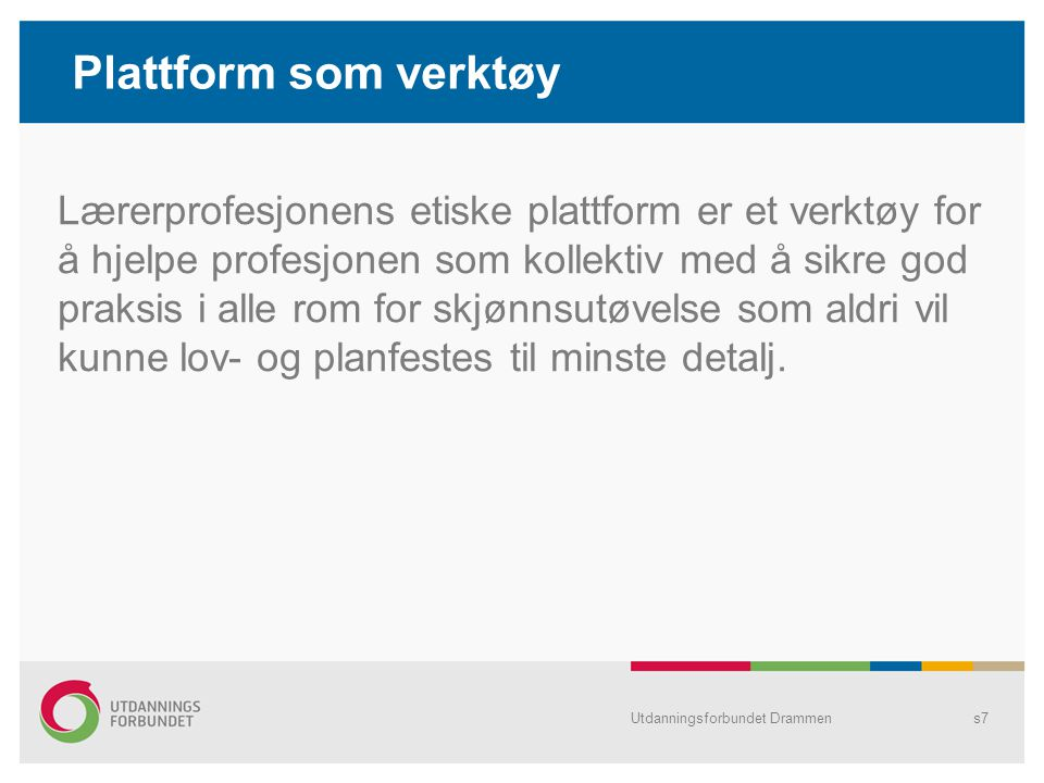 Plattform som verktøy