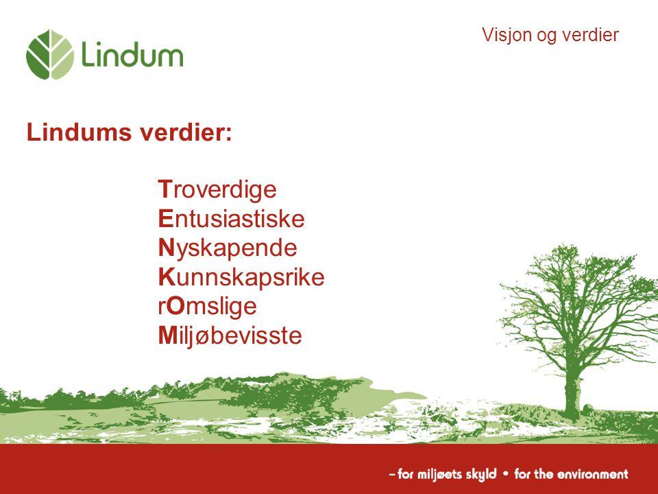 Lindums verdier: Visjon og verdier