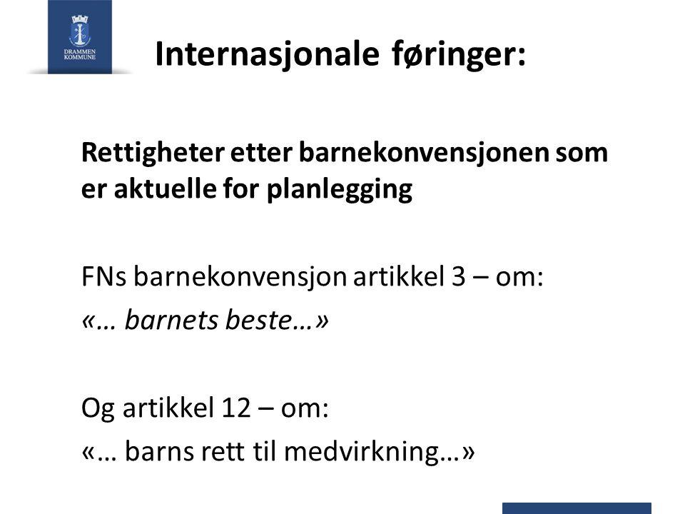 Internasjonale føringer: