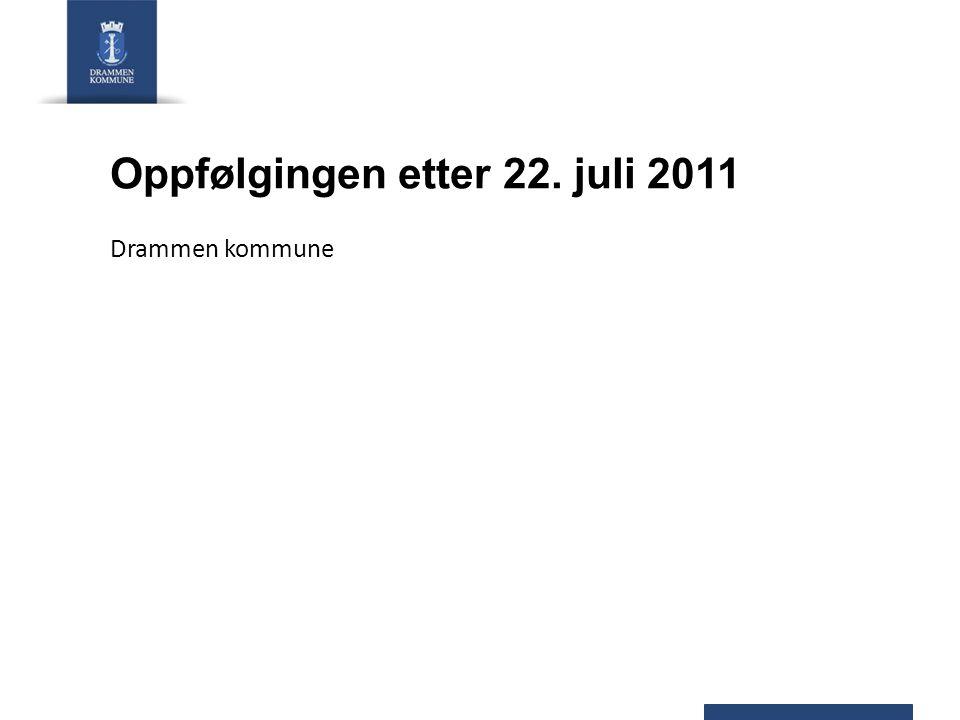 Oppfølgingen etter 22. juli 2011