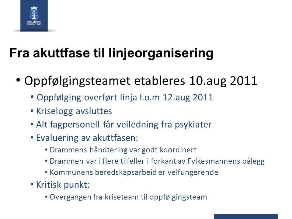 Fra akuttfase til linjeorganisering