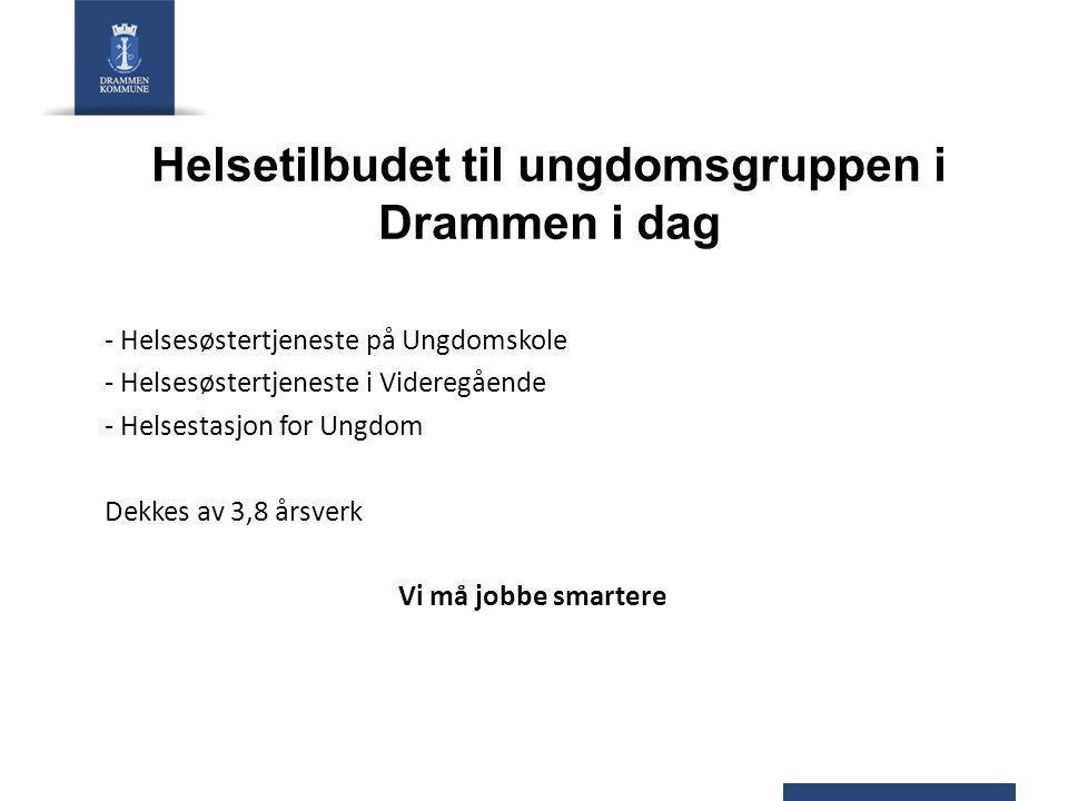 Helsetilbudet til ungdomsgruppen i Drammen i dag