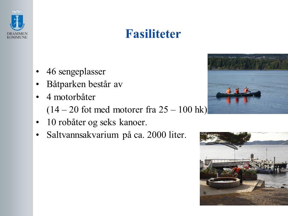 Fasiliteter 46 sengeplasser Båtparken består av 4 motorbåter