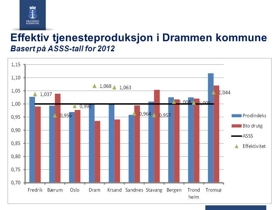 Effektiv tjenesteproduksjon i Drammen kommune Basert på ASSS-tall for 2012