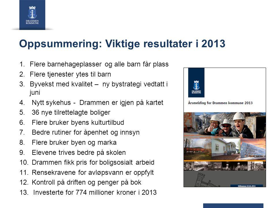 Oppsummering: Viktige resultater i 2013