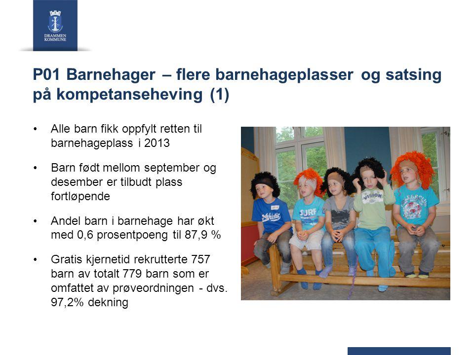 P01 Barnehager – flere barnehageplasser og satsing på kompetanseheving (1)
